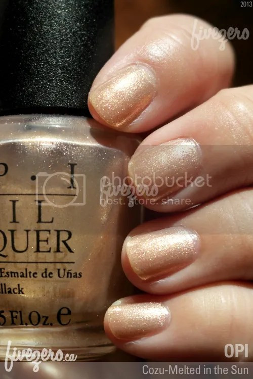 OPI Nail Lacquer in Cozu-Melted in the Sun, swatch