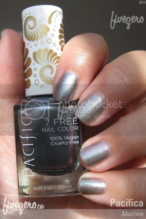 Pacifica 7 Free Nail Color in Abalone, swatch