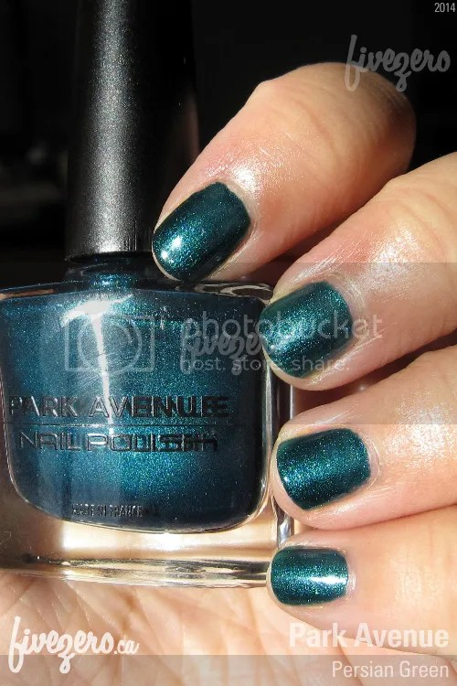 Park Avenue Nail Polish in Persian Green, swatch
