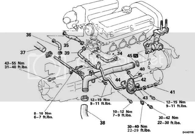Mitsubishi 30 Engine Diagram