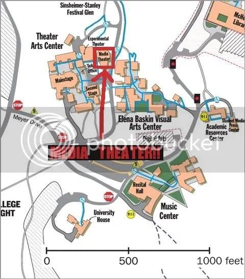 Campus Map (around Media Theater)