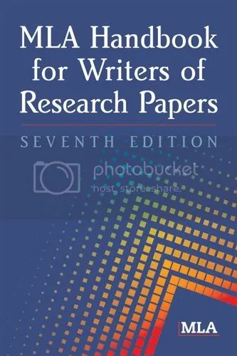 MLA Handbook for Writers of Research Papers (7th edition)