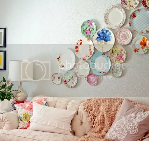 Image result for clustered plates on wall