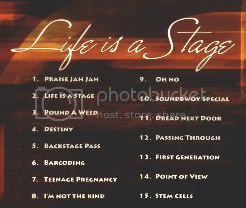 Life is a Stage tracklist