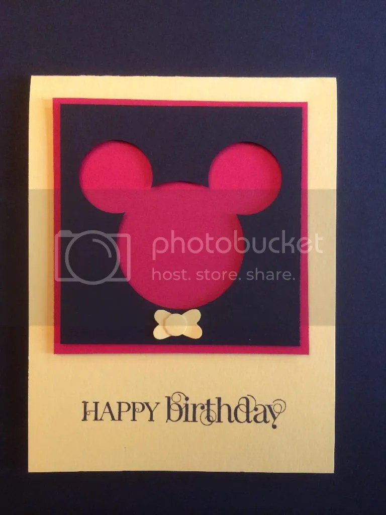 StampinUp Mickey Mouse Happy Birthday card made by demo Beth McCullough. Please see more card and gift ideas at www.StampingMom.com #StampingMom