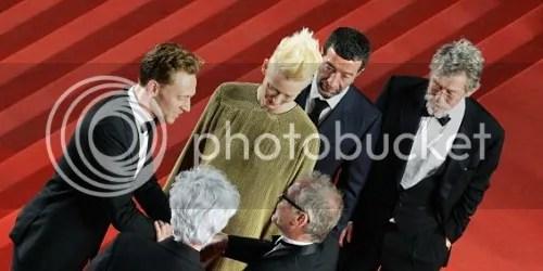 cannes 2013 tom hiddleston tilda swinton