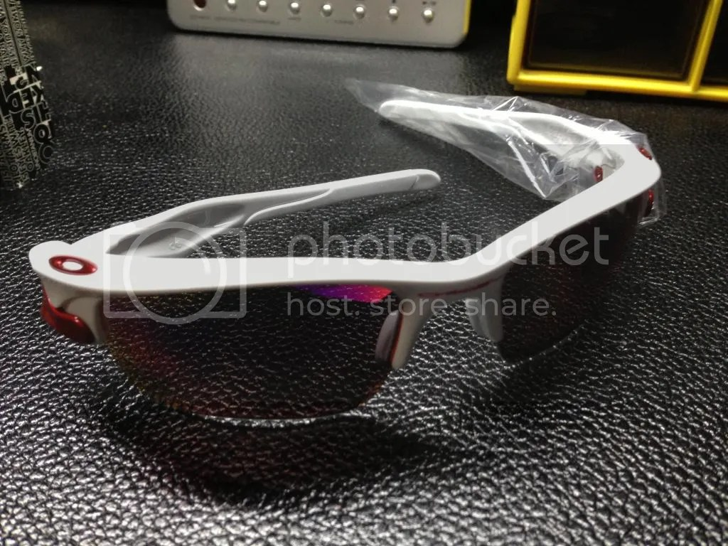 Oakley Fast Jacket Polished White Oo Red G40 Sunglasses