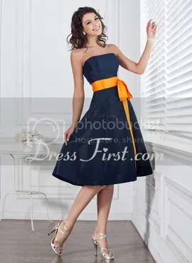 blue A-line dress homecoming gown