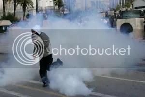 tear gas greece