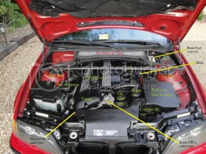 E46 BMW 330 ZHP Engine parts and pictures