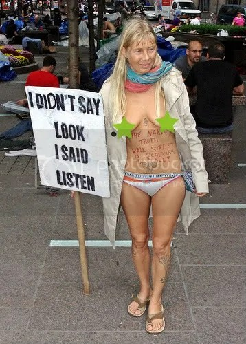 Occupy Wall Street nudity