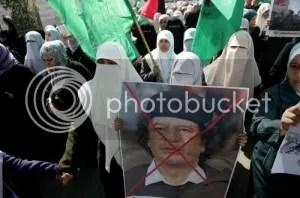 Islamists protesting Gadhafi