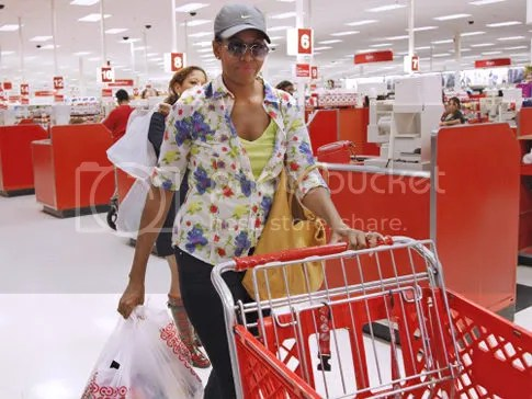 Michelle Obama shops at Target