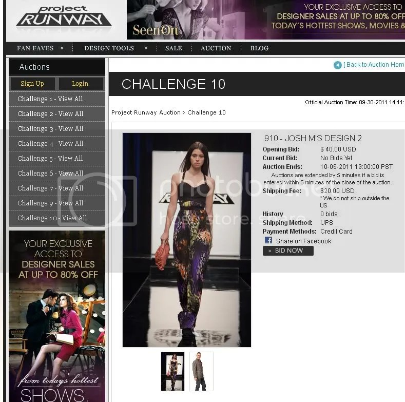 Project Runway auction