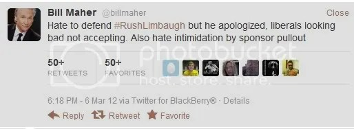 maher defends limbaugh