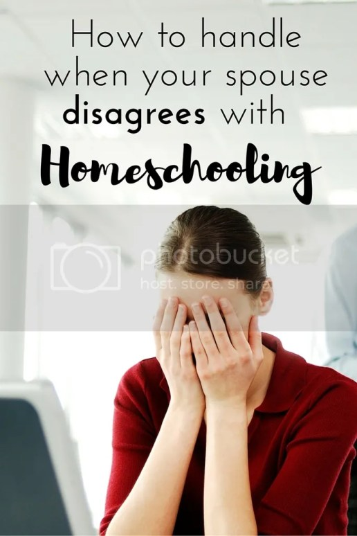 Lots of great advise on how to handle when your spouse is not on board with homeschooling. She shares her story and I totally know how she felt because I am going through it right now. :(