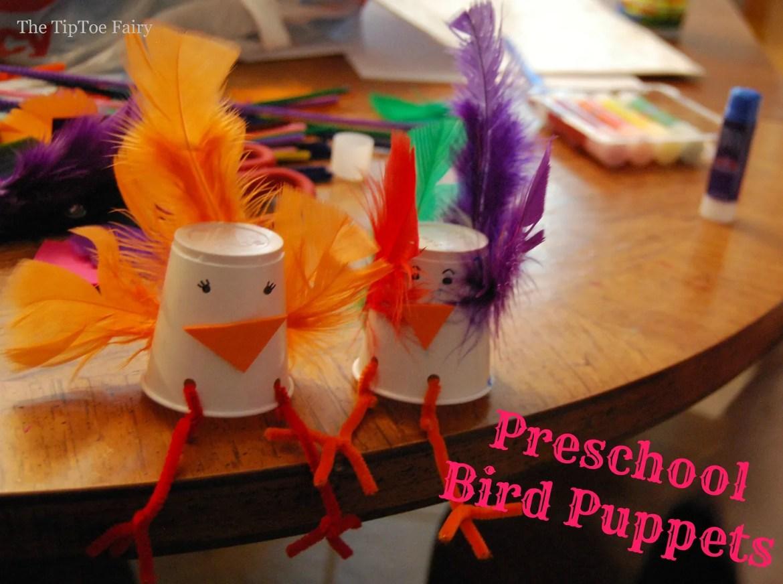 Preschooler Bird Puppets