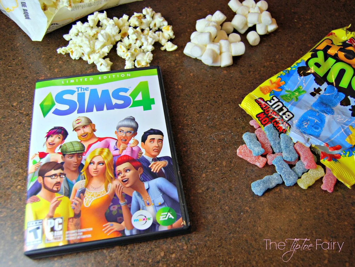 Sour Patch Popcorn Treats & The Sims 4 Review | The TipToe Fairy #TheSims4 #CollectiveBias #shop #videogamereview #popcornrecipes #popcorntreats
