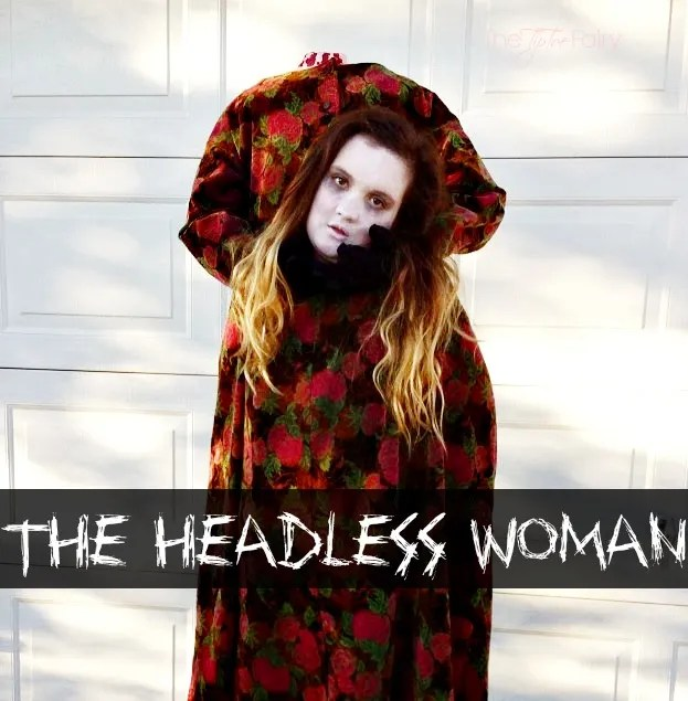 Halloween Costume DIY: The Headless Woman.  This is a fun costume that will make you the hit of the Halloween party. | The TipToe Fairy #halloween #costume #DIY #headless
