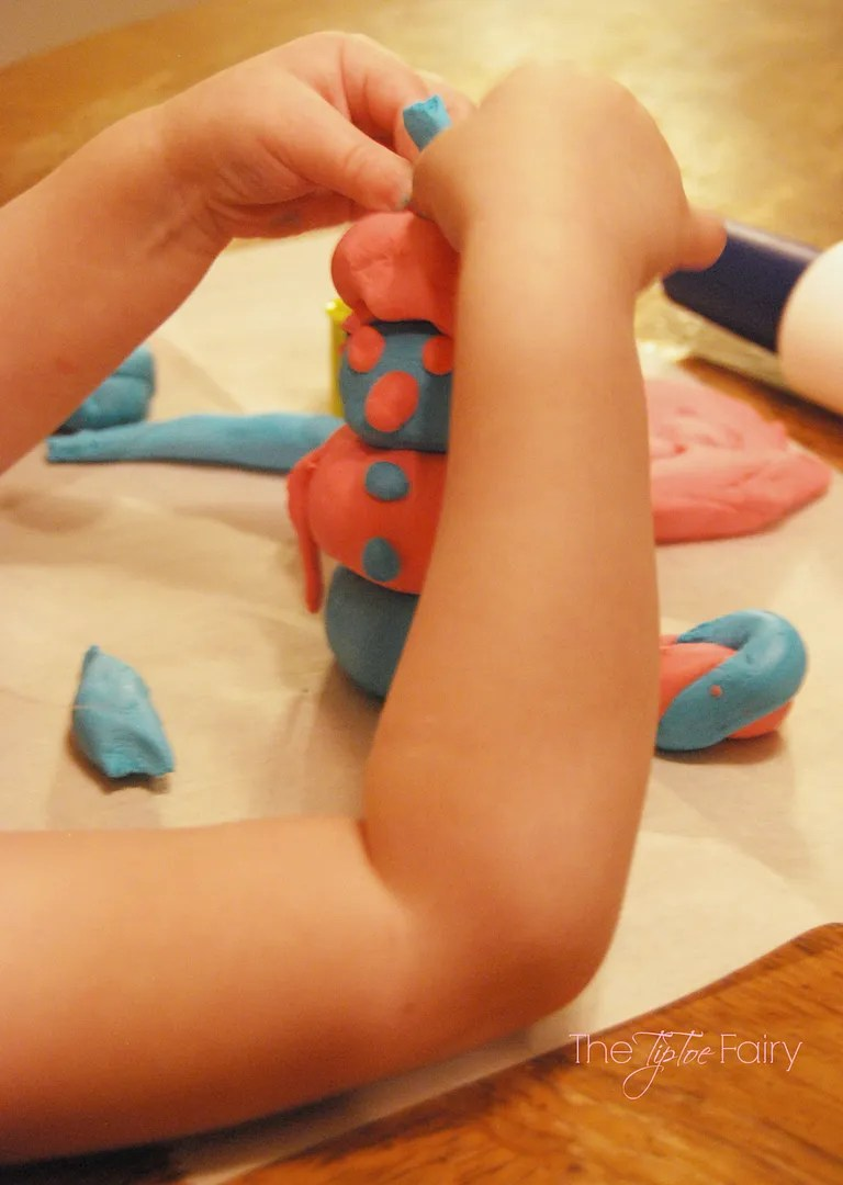 Marshmallow Play Dough | The TipToe Fairy