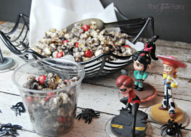 Black Widow Popcorn   The TipToe Fairy #InfinityHeroes #CollectiveBias #shop #popcornrecipes #cakebatterpopcorn #popcorntreat #blackwidow #marvel