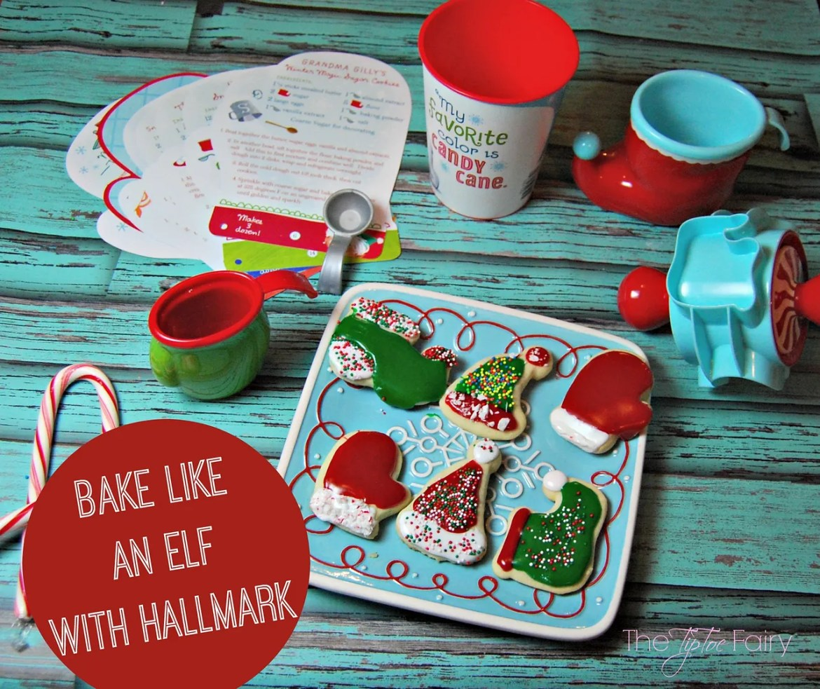 Check out Hallmark's toys and gifts @Walmart like this Bake Like an Elf baking kit and rolling cookie cutter. We had so much fun making cookies with these | The TipToe Fairy #NorthpoleFun #shop