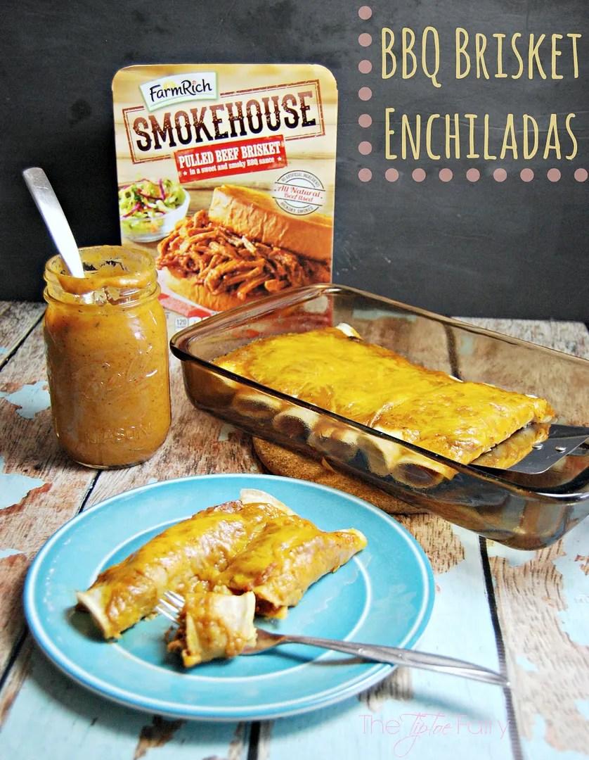 BBQ Brisket Enchiladas with homemade Enchilada Chili Gravy | The TipToe Fairy #SmokehouseBBQ #barbecue