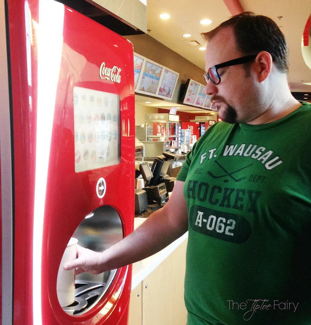 Check out the new Coca-Cola Freestyle Machines at AMC Theatres!! More than 100+ drink choices! #ad #AMCandCocaColaFreestyle #movie