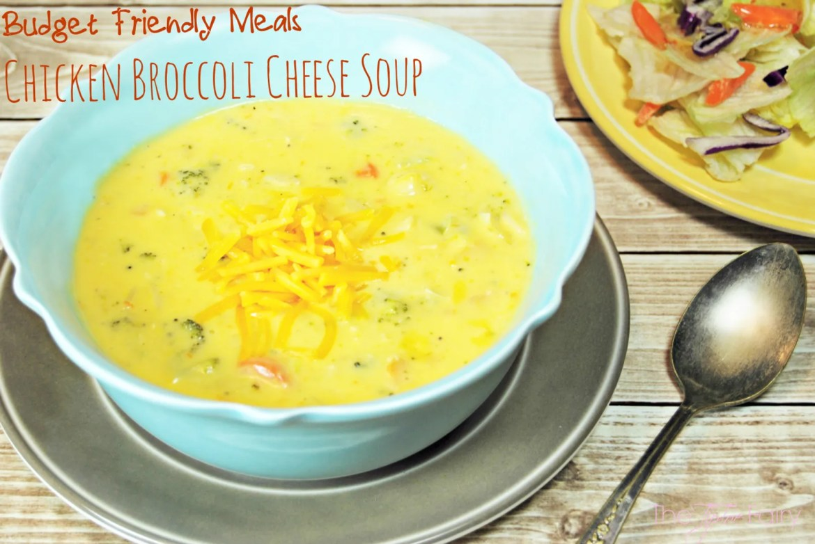 Chicken Broccoli Cheese Soup - budget friendly meal, less than $20 for the whole family | The TipToe Fairy #RollintoSavings #shop #cbias #souprecipes #macncheese