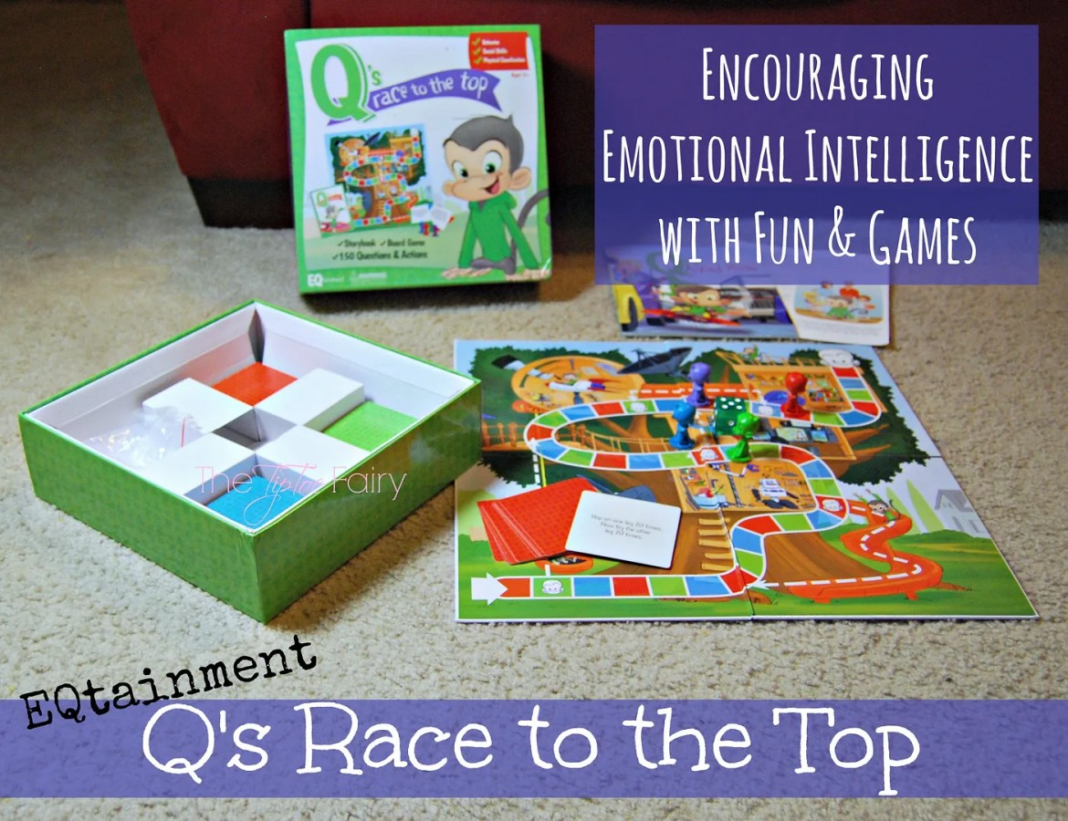EQtainment Q's Race to the Top Board Game | The TipToe Fairy  #Qsracetothetop #PMedia #ad #review #emotionalintelligence #eq