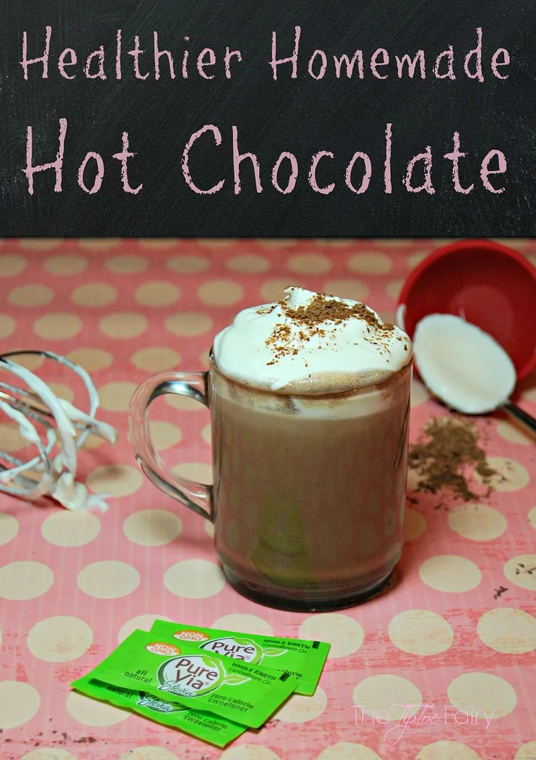Make Healthier Homemade Hot Chocolate with Pure Via. No Sugar Hot Chocolate | The TipToe Fairy #PureViaSweet #PMedia #ad