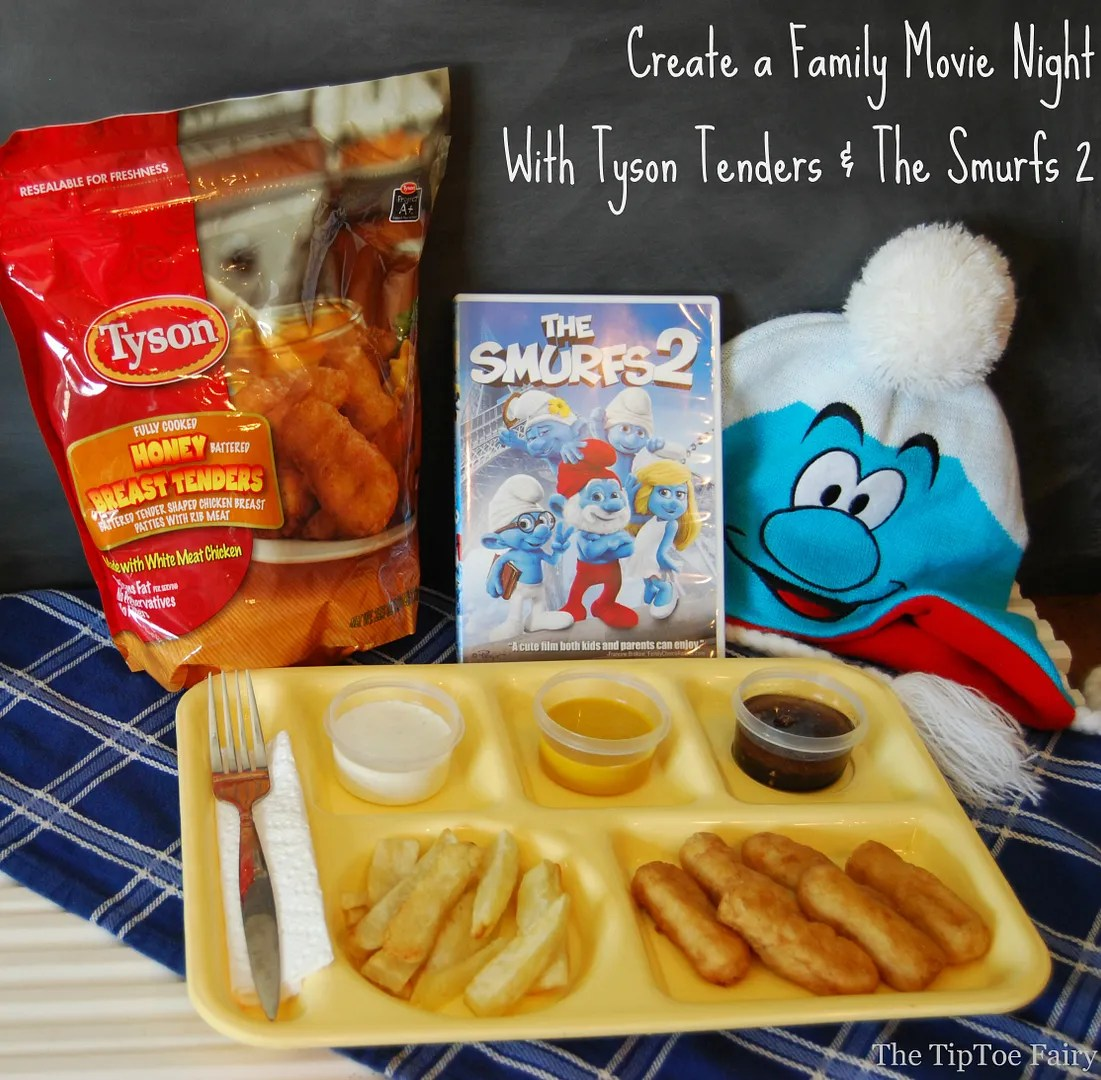 #TastyTenders #shop Family Movie Night with The Smurfs 2
