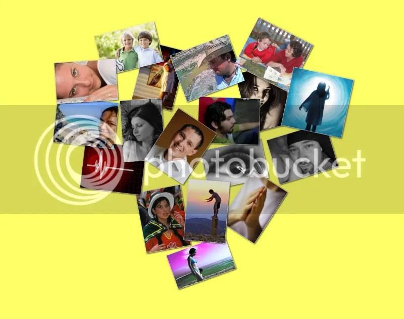 corazón collage