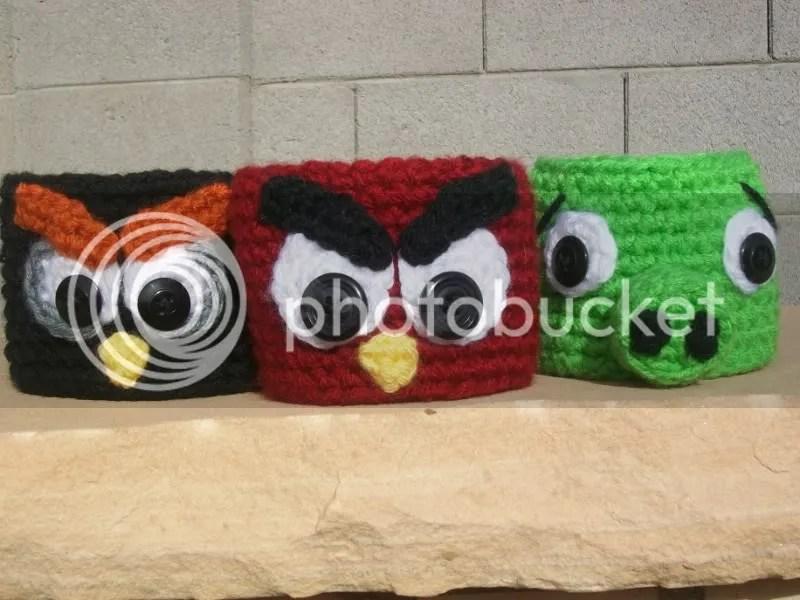 Angry Birds Coffee Cozy - Crochet Coffee Cozy