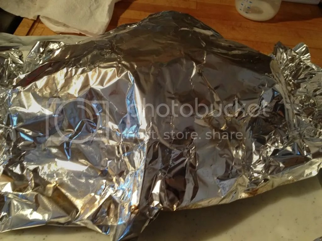 Cover your chicken with foil while it rests.