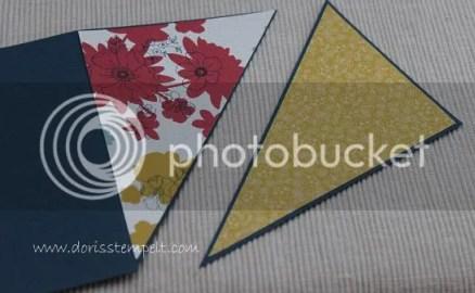 Designer Papier aufkleben