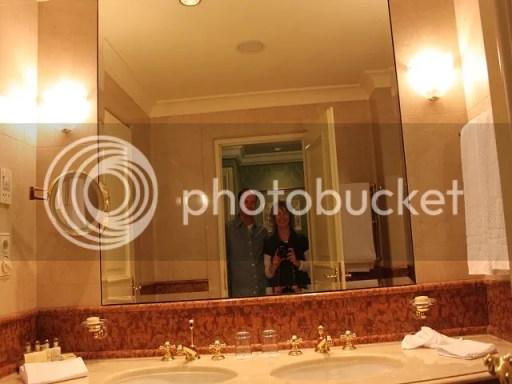 Badezimmer im Grand Hotel Wien