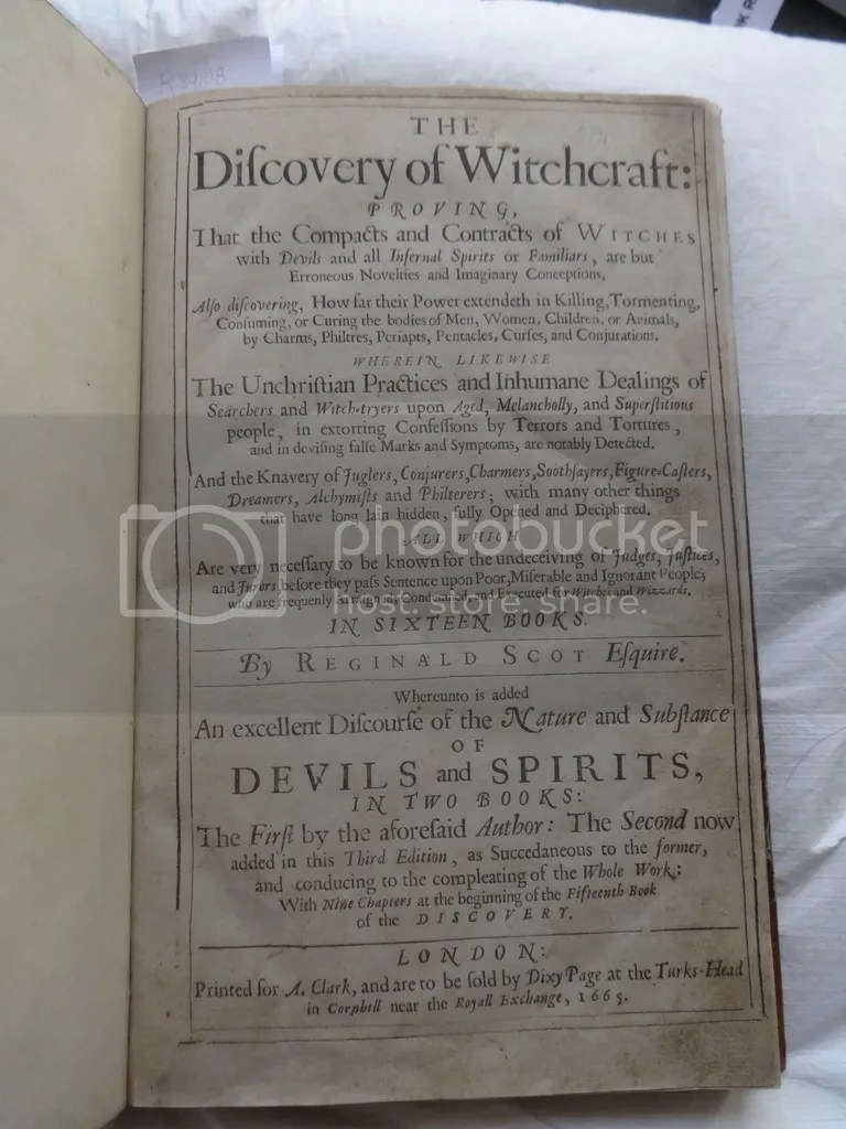 The Discovery of Witchcraft.