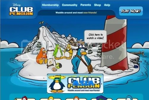 New Club Penguin Home Page