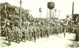 26th Division On The March
