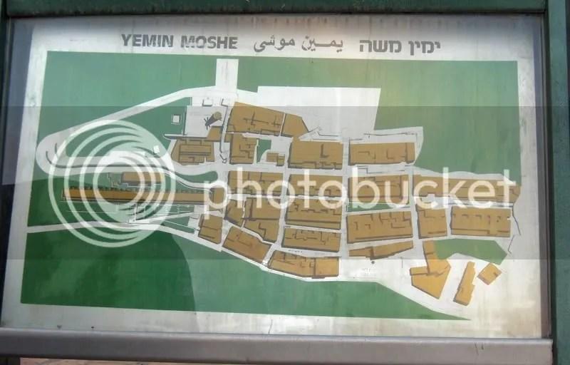 Map of Yemin Moshe