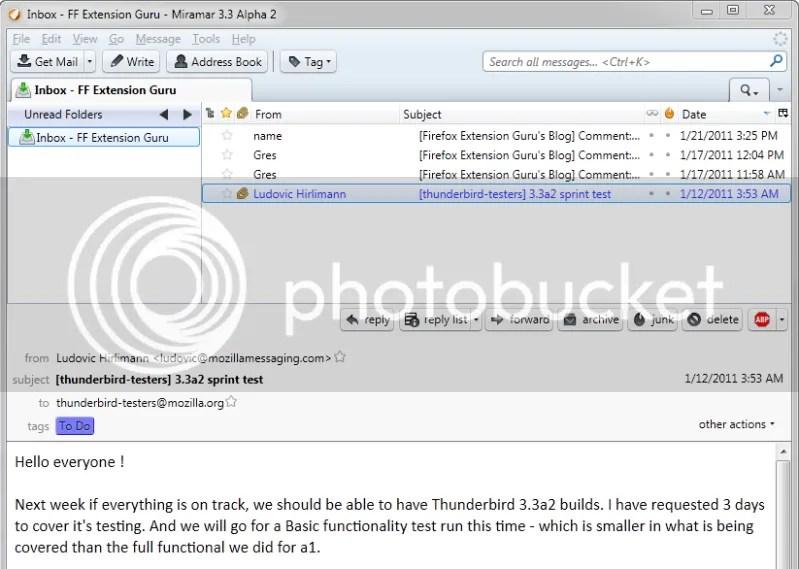 thunderbird 3.1.16