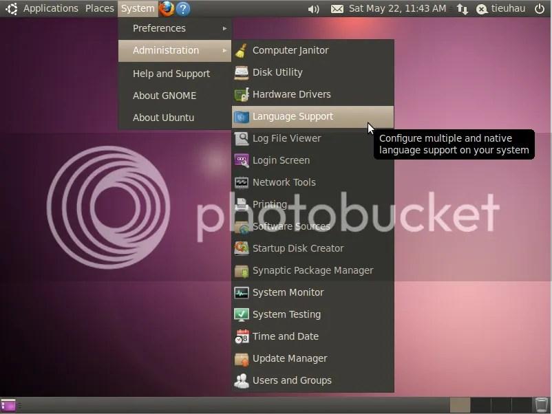 Cài đặt ngôn ngữ tiếng Việt cho Ubuntu (1/6)