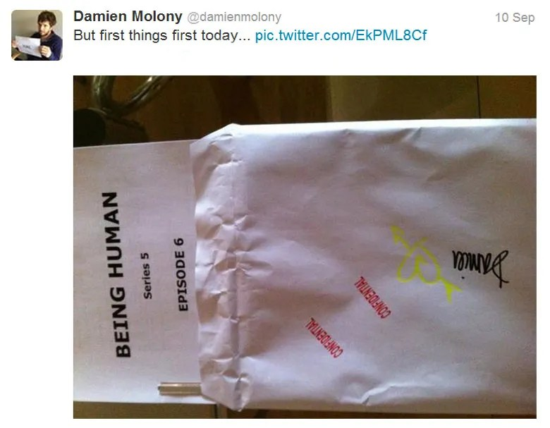 Damien Molony Being Human 5 Filming News: almost a wrap on Hal's new