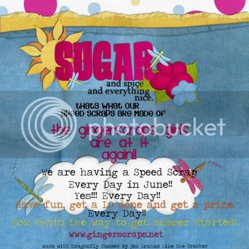 Speed Scrap A Day @ Gingerscraps