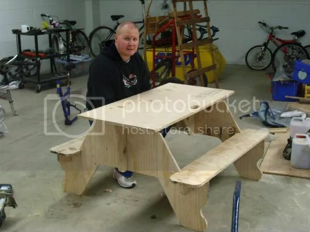 plywood picnic table plans