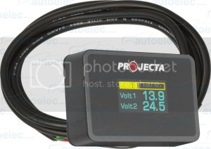 PROJECTA DUAL BATTERY SYSTEM MONITOR VOLT METER DBM100 12V
