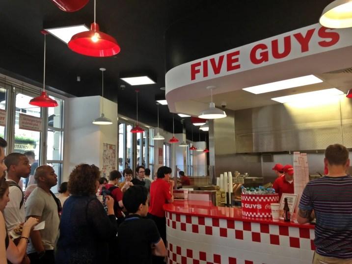 Five Guys London UK