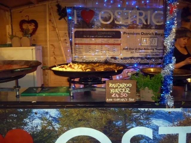 kangaroo burgers christmas market