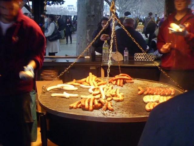 sausages christmas market